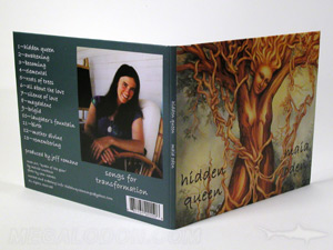 custom cd jacket packaging 4pp bifold spine