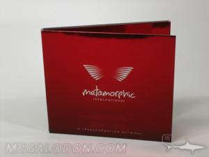 custom cd jacket foil paper packaging red foiling paper