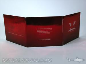 foil paper cd jacket custom packaging 6pp red foil paper