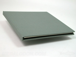 green linen cd book speciality fabric material
