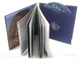 custom jacket packaging cd swinging sleeve soft cover book