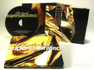 gold metallic cd jacket custom packaging