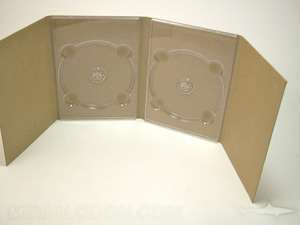 digipak fiberboard dvd 8pp two trays unprinted