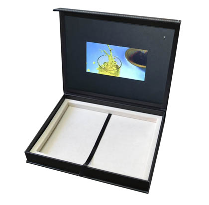 Video panel boxes packaging lcd monitor screen books folders leather video box set lcd monitor panel screen gift promo m4hsunfo