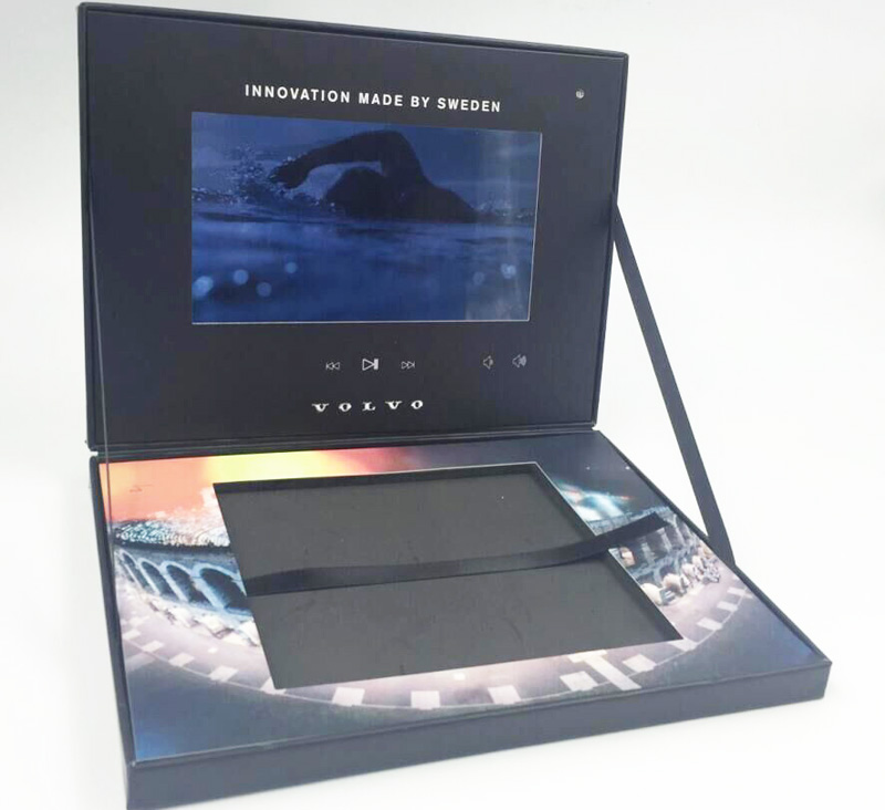 video screen lcd monitor packaging presentation folders boxes kiosks books